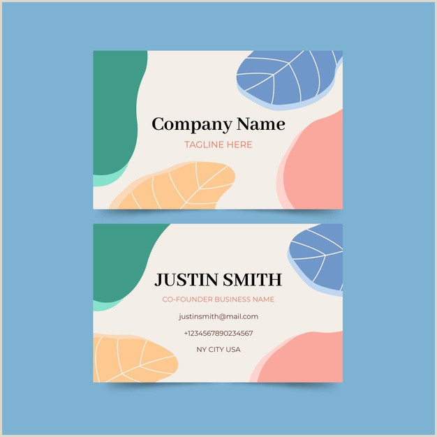Pastel Business Cards Abstract Business Card Template With Pastel Colored Stains