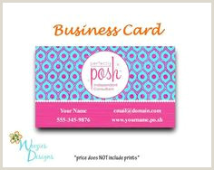 Perfectly Posh Business Card Ideas 40 Posh Business Cards Ideas