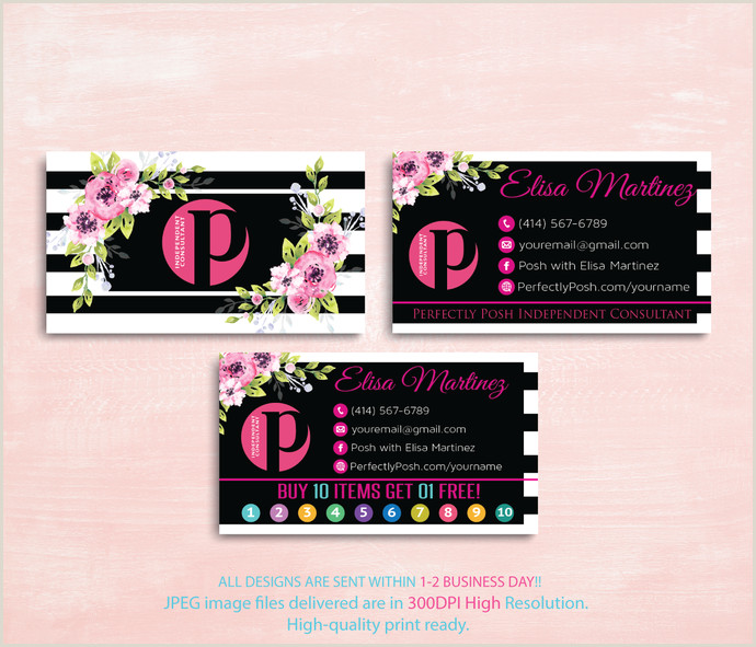 Perfectly Posh Business Card Ideas Perfectly Posh Business Cards Perfectly Posh Consultant Business Cards Perfectly Posh Independent Consultant Punch Card Ps08