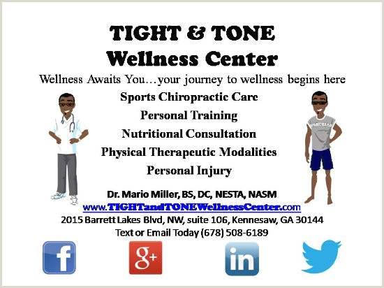 Personal Business Card Business Card Picture Of Tight & Tone Wellness Center