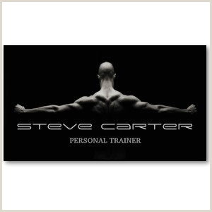 Personal Business Card Samples Professional Personal Trainer Bodybuilder Card Business