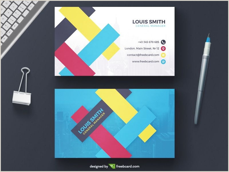 Personal Business Cards Design 20 Professional Business Card Design Templates For Free