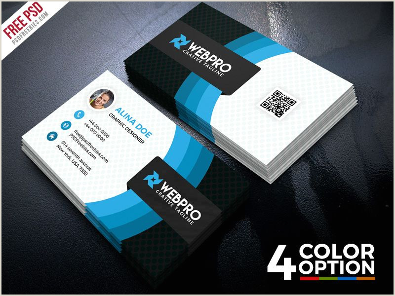 Personal Business Cards Design Corporate Business Card Free Psd Set