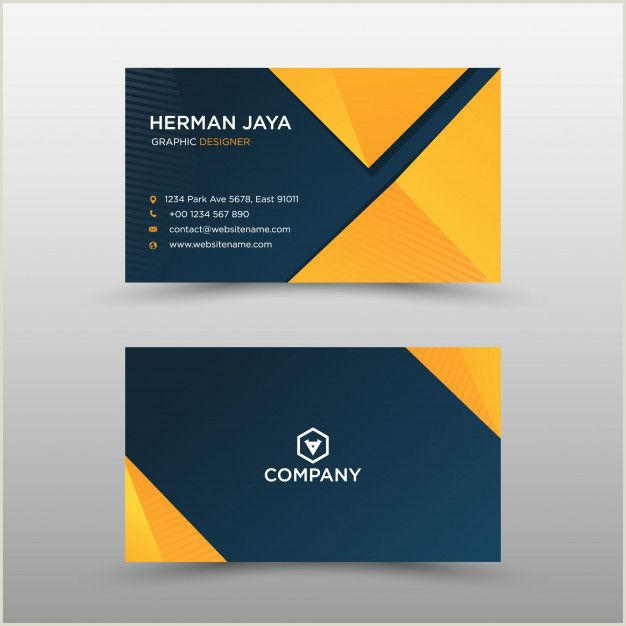 Personal Business Cards Examples Modern Professional Business Card