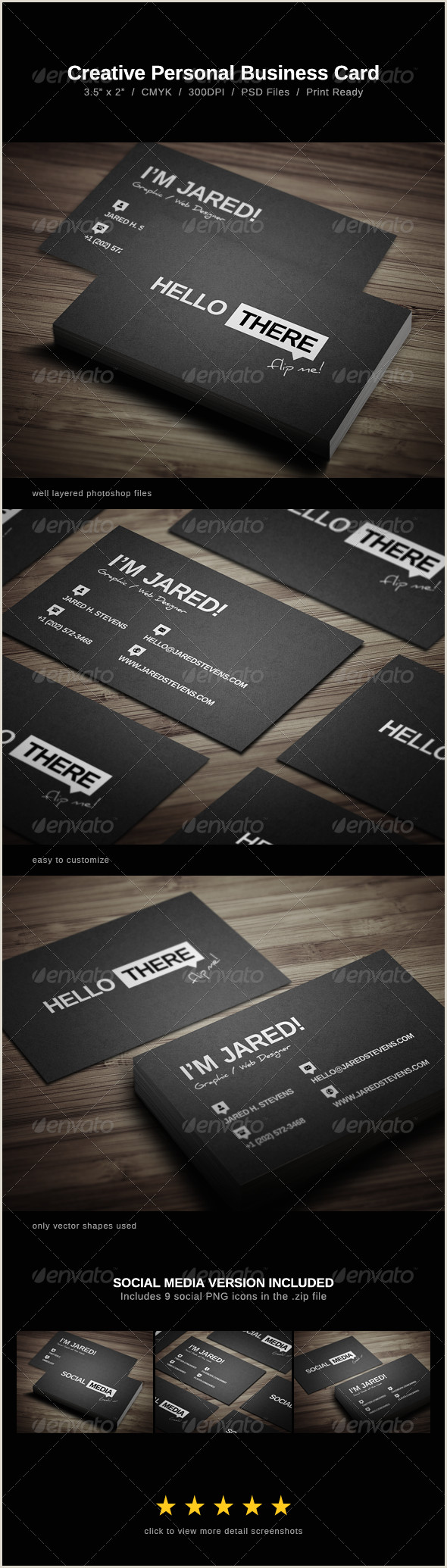 Personal Business Cards Examples Personal Business Card Templates & Designs From Graphicriver