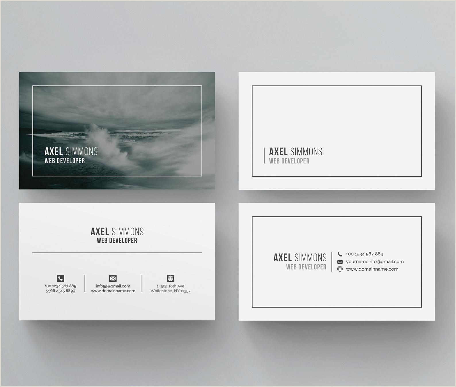 Personal Business Cards Ideas Business Card Word Business Card Template Business Card