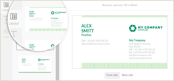 Personal Business Cards Online Logaster