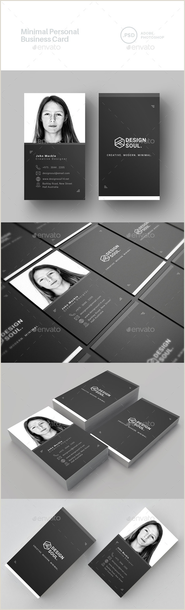 Personal Business Cards Sample Personal Business Card Templates & Designs From Graphicriver