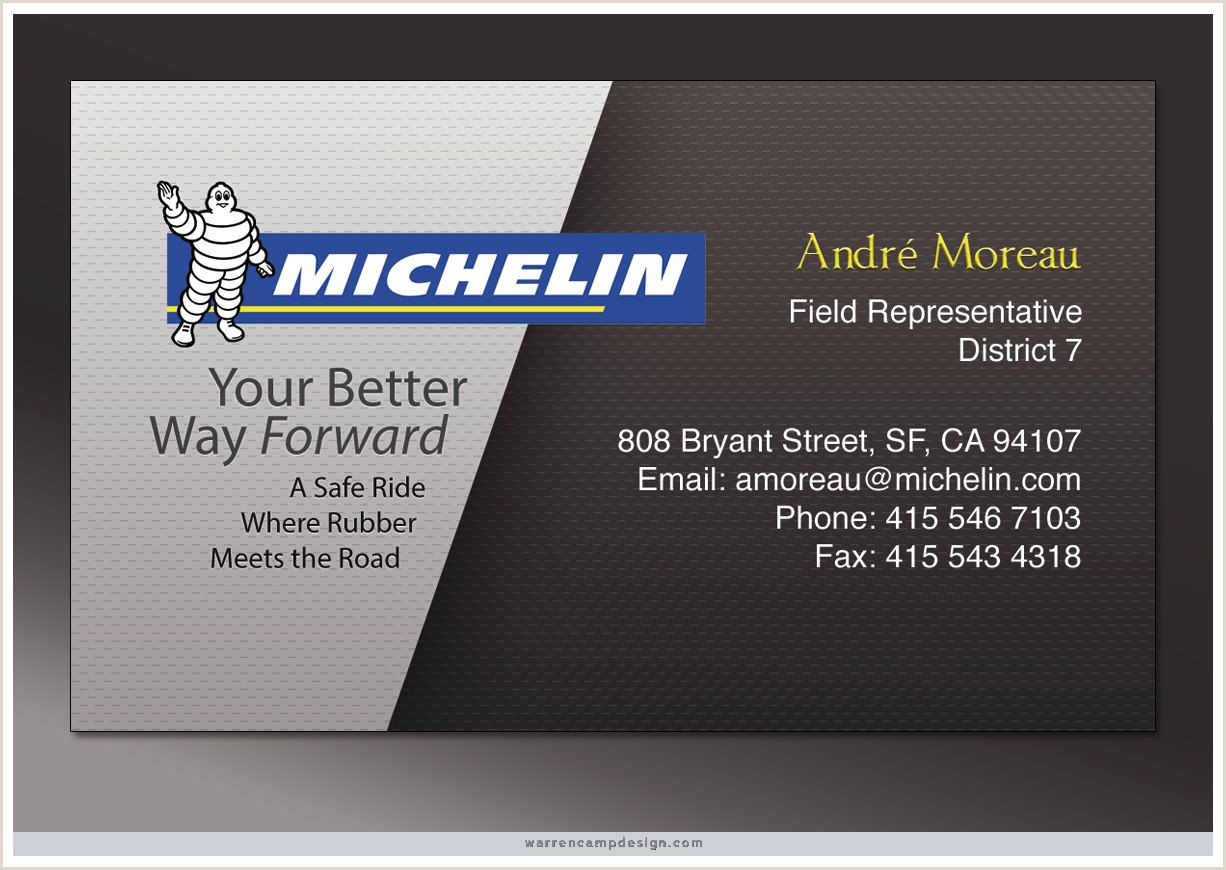 Personal Business Cards Sample Tire Sales This Single Sided Business Card Features Two