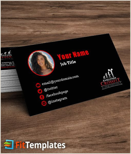 Personal Business Cards With Photo Crossfit Box Business Card Template With Images