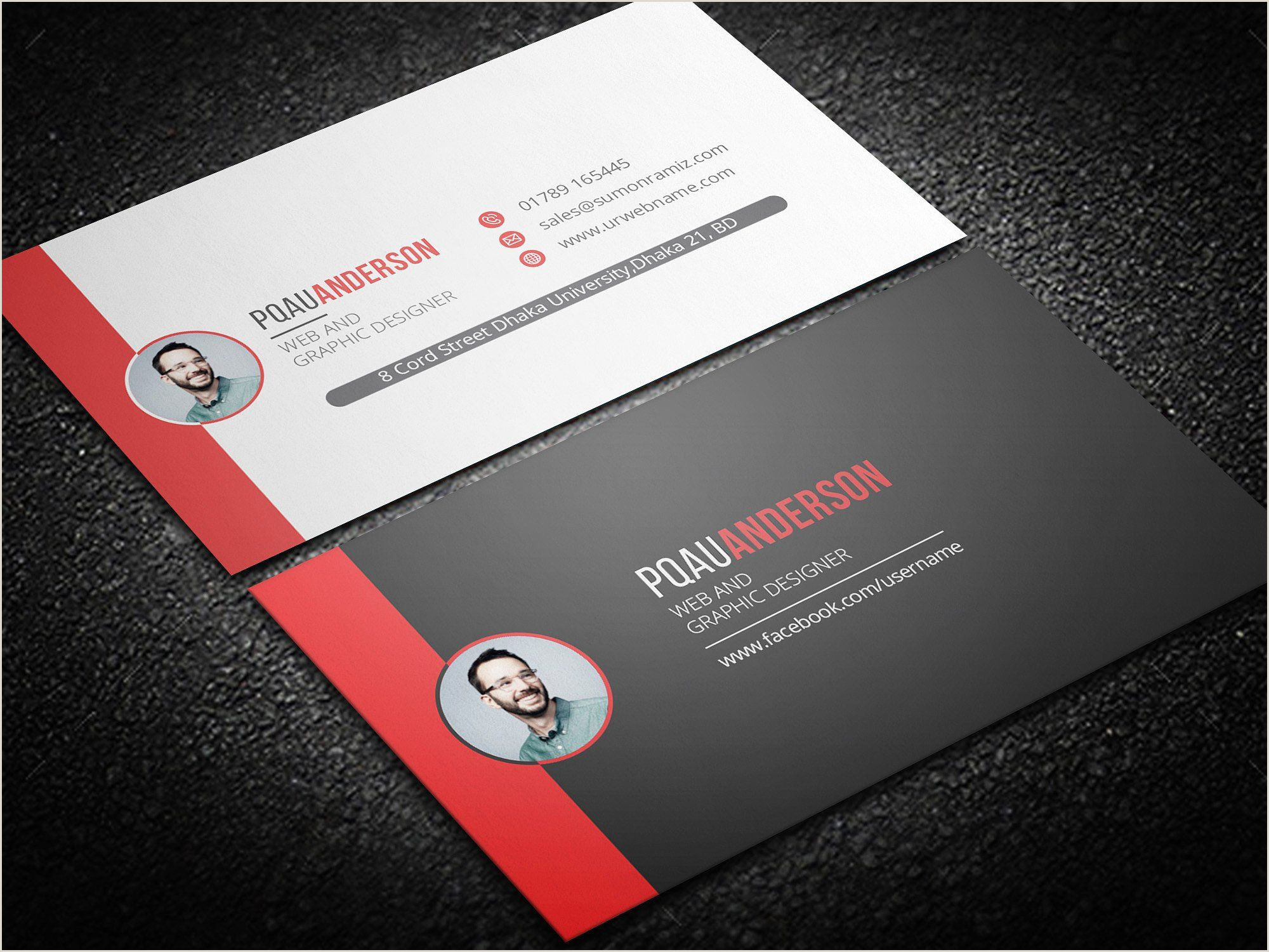 Personal Business Cards With Photo Personal Business Card