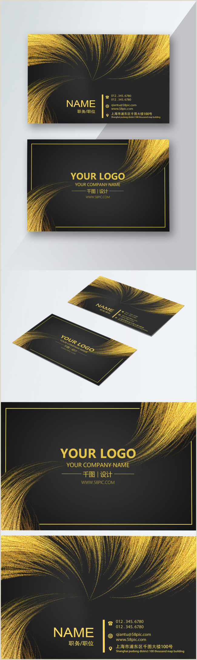 Personal Business Cards With Photo Personal Business Card Template Template Image Picture Free