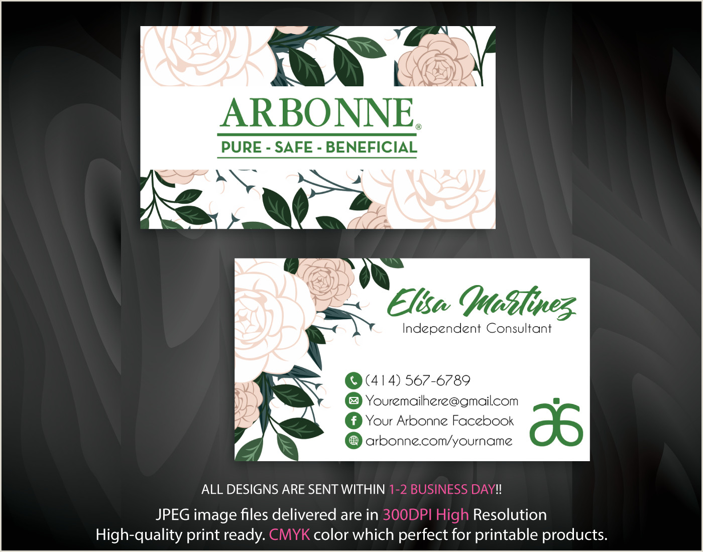 Personal Calling Cards Online Arbonne Business Cards Personalized Arbonne Cards Ab89 In
