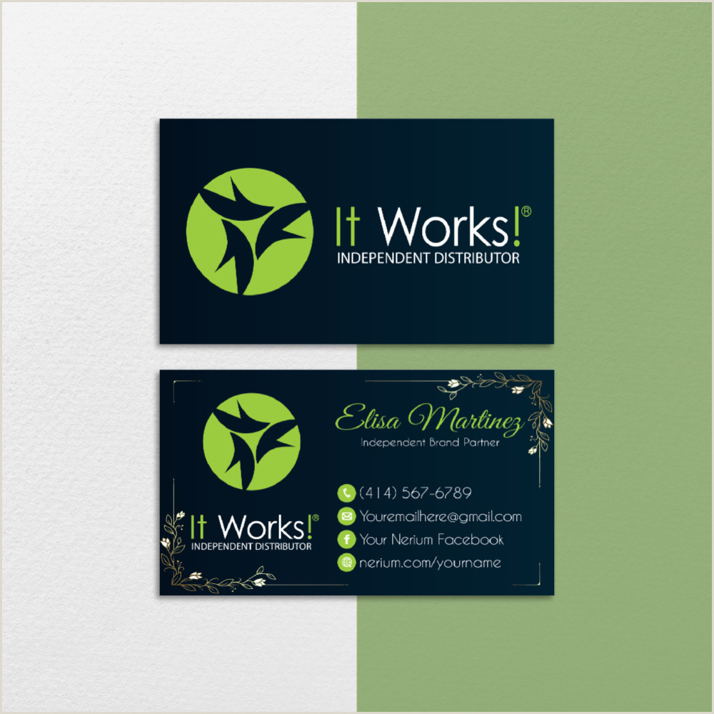 Personal Calling Cards Online Watercolor Personalized It Works Business Card It Works