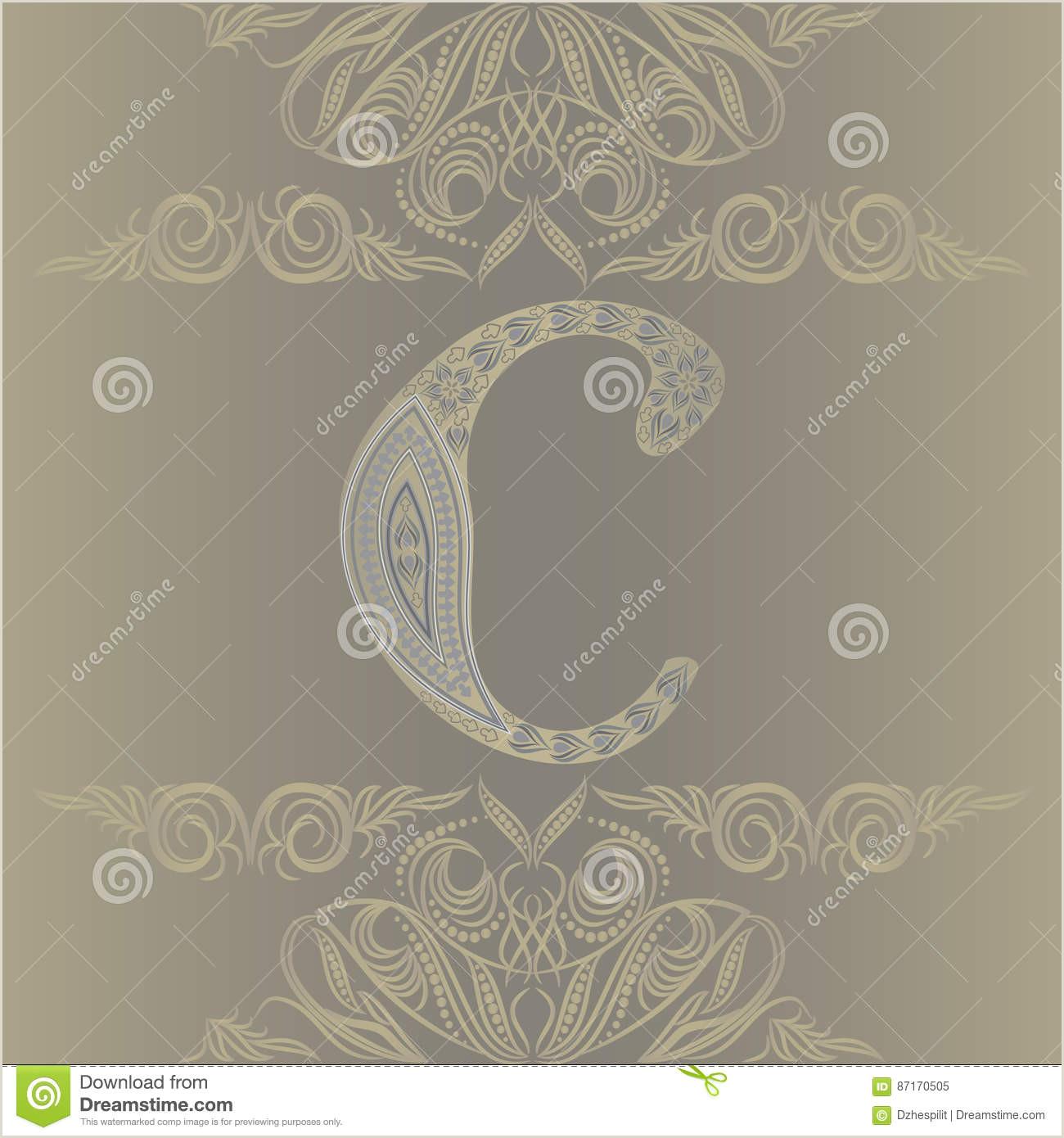 Personal Cards Designs Business Card Monogram Emblem Letter C Template Design