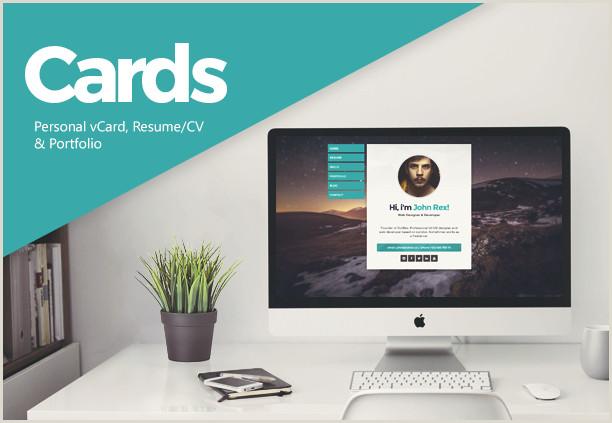 Personal Cards Templates Cards Personal Vcard Resume Cv & Portfolio