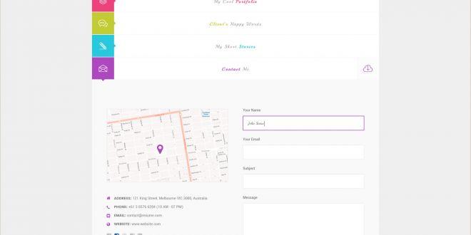 Personal Information Cards Template Js Creative Vcard & Resume Portfolio Psd Template