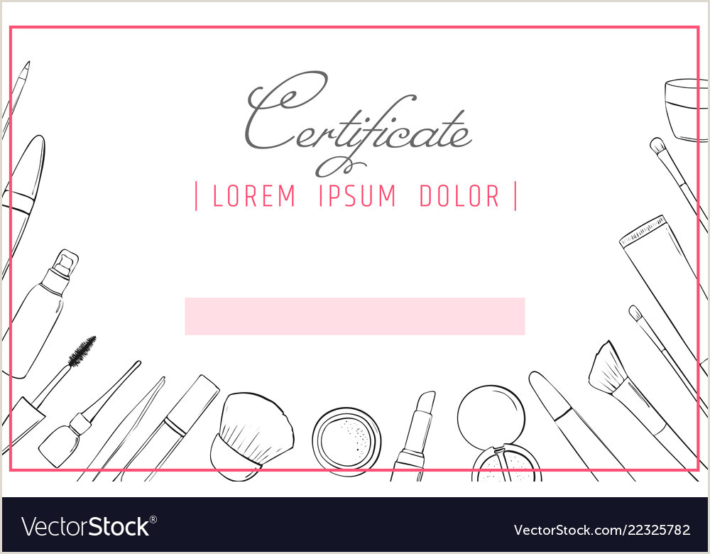 Personal Information Cards Template Makeup Artist Certificate Template