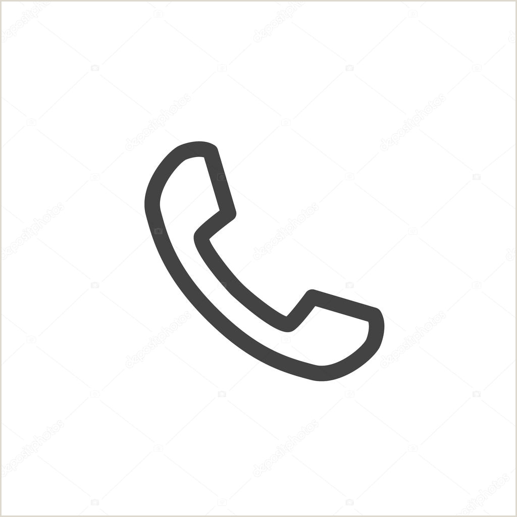 Phone Icon For Business Cards ᐈ Phone For Business Card Stock Icon Royalty Free