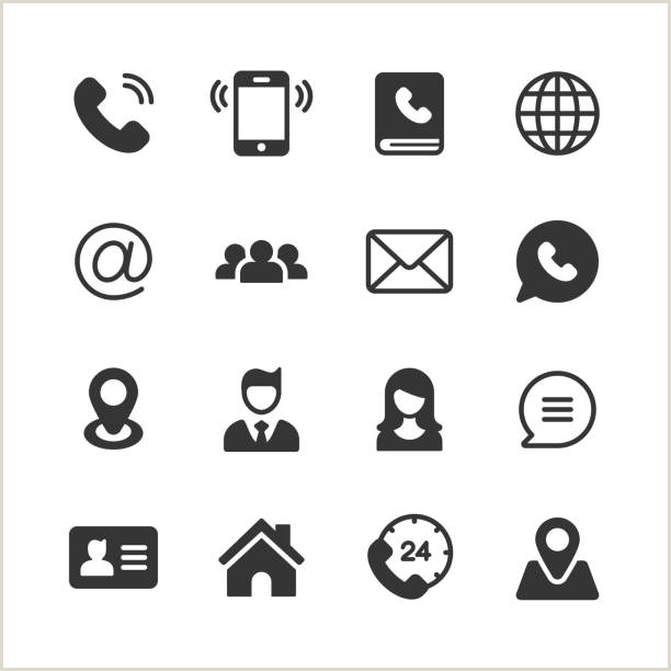 Phone Icon For Business Cards Business Card Icons 1521 Free Vectors To Download