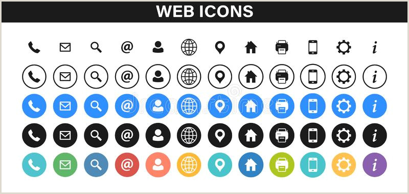 Phone Icon For Business Cards Business Card Icons Stock Illustrations – 91 841 Business