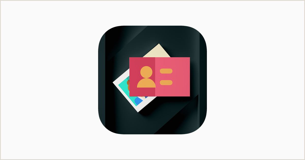 Phone Icon For Business Cards Business Card Maker Creator On The App Store