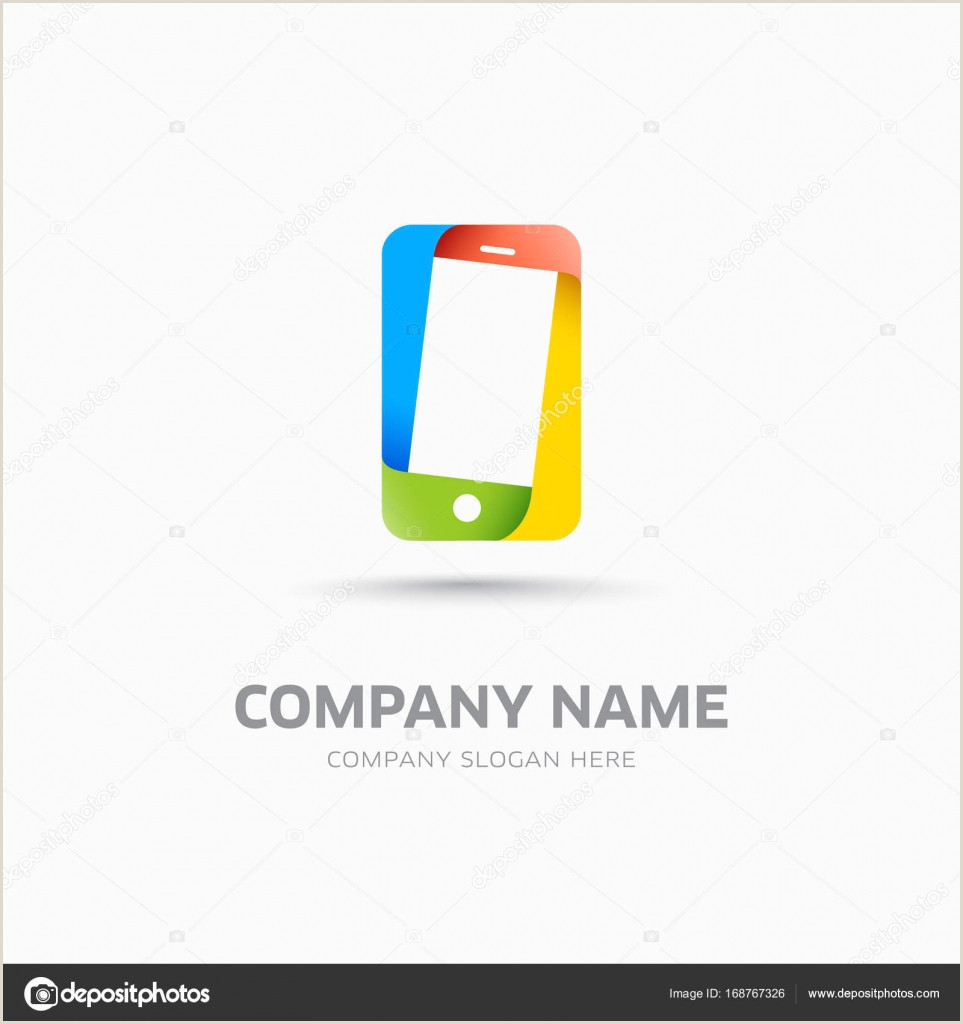 Phone Symbol For Business Card Abstract Mobile Phone Symbol And Logo Template