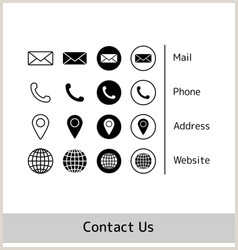 Phone Symbol For Business Card Business Card Icons Home Phone Address Icon Vector