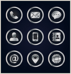 Phone Symbol For Business Card Business Card Phone Email Icon Vector Over 3 000