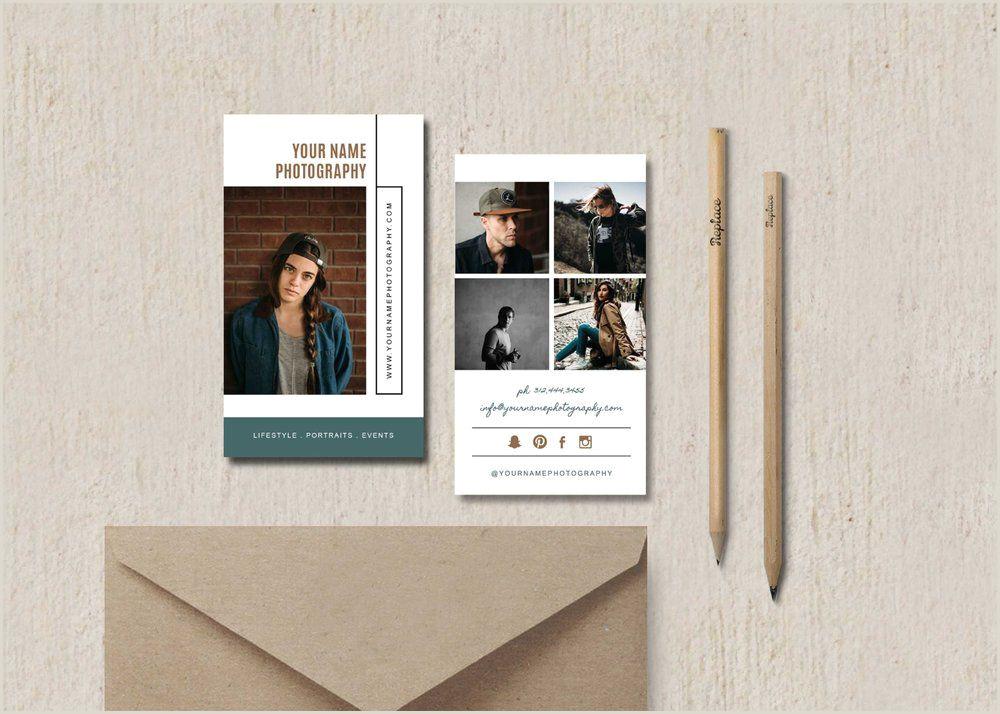 Photography Business Cards Ideas Portrait Photographer Business Card Template