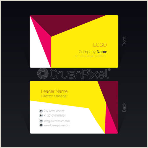 Pink And Black Business Cards Black And Pink Business Card Design Concept Vector
