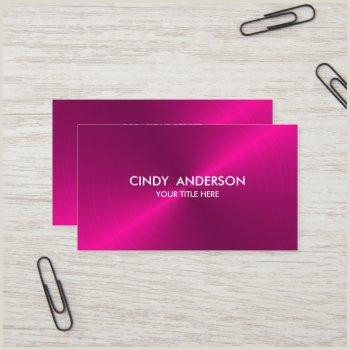 Pink And Black Business Cards Dark Pink Business Cards