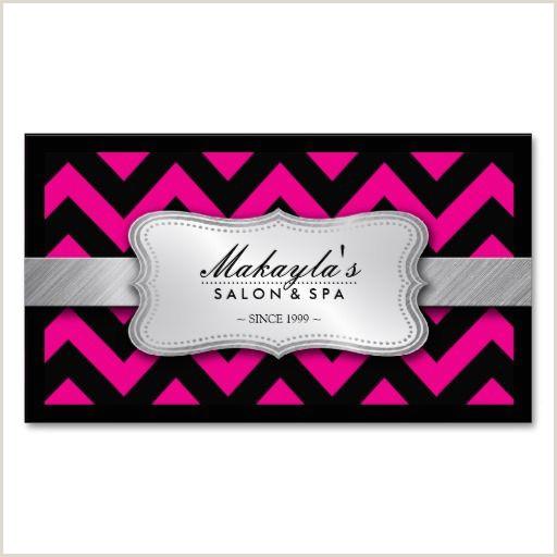 Pink And Black Business Cards Elegant Magenta Pink And Black Chevron Pattern Business Card