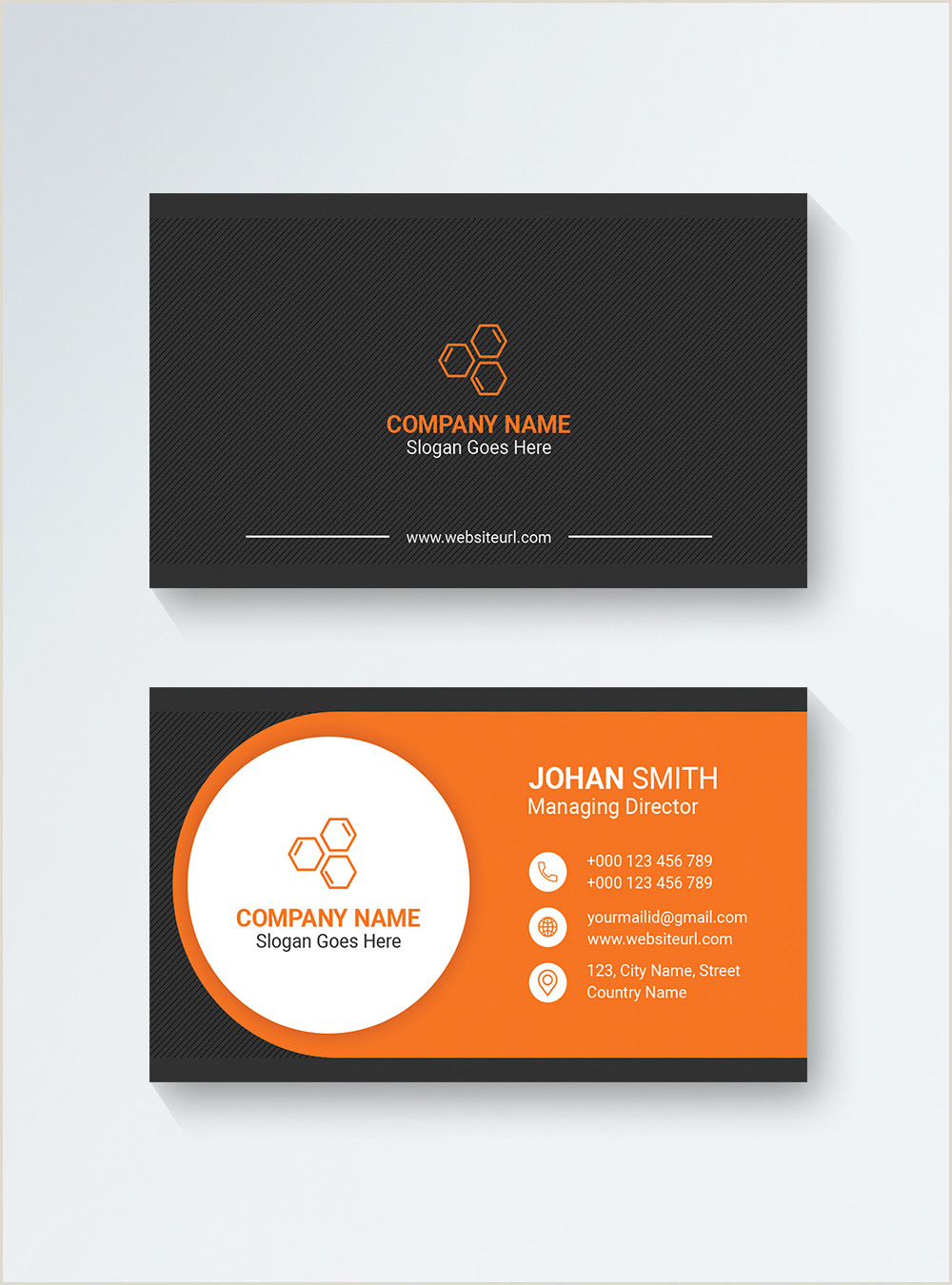 Pink And Black Business Cards Pink And Black Modern Business Card Template Image Picture