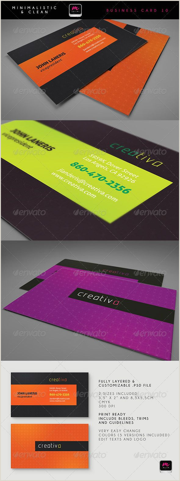 Pinterest Business Cards 100 [ Business Card Print Template ]