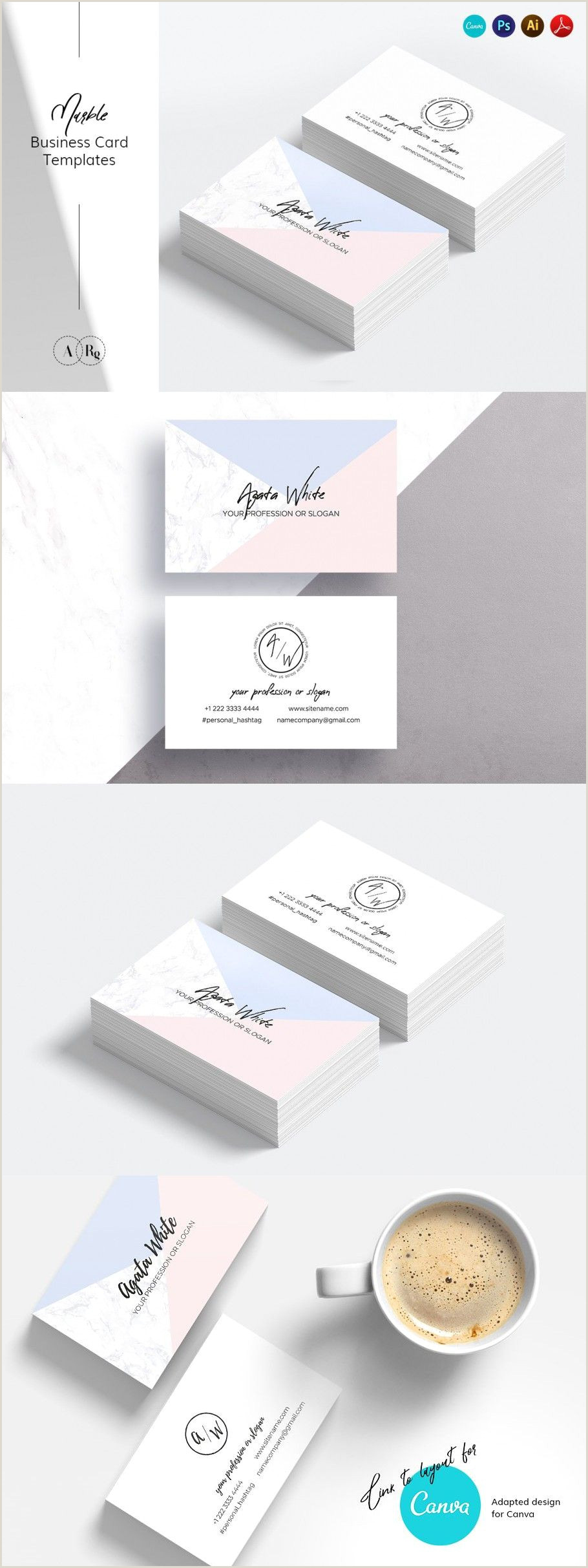 Pinterest Business Cards Simple & Clean Business Card In 2020