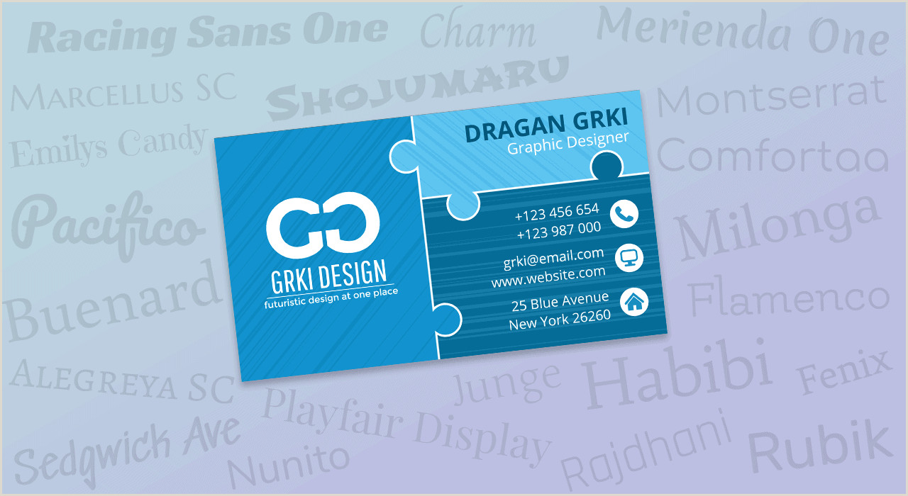 Popular Fonts For Business Cards 21 Best Free Fonts For Business Cards