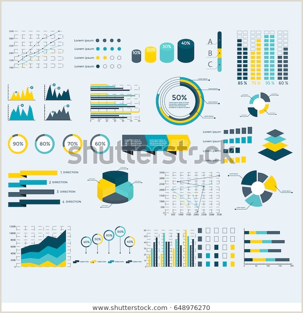 Presentation Cards Design Infographics Elements Collection Business Vector