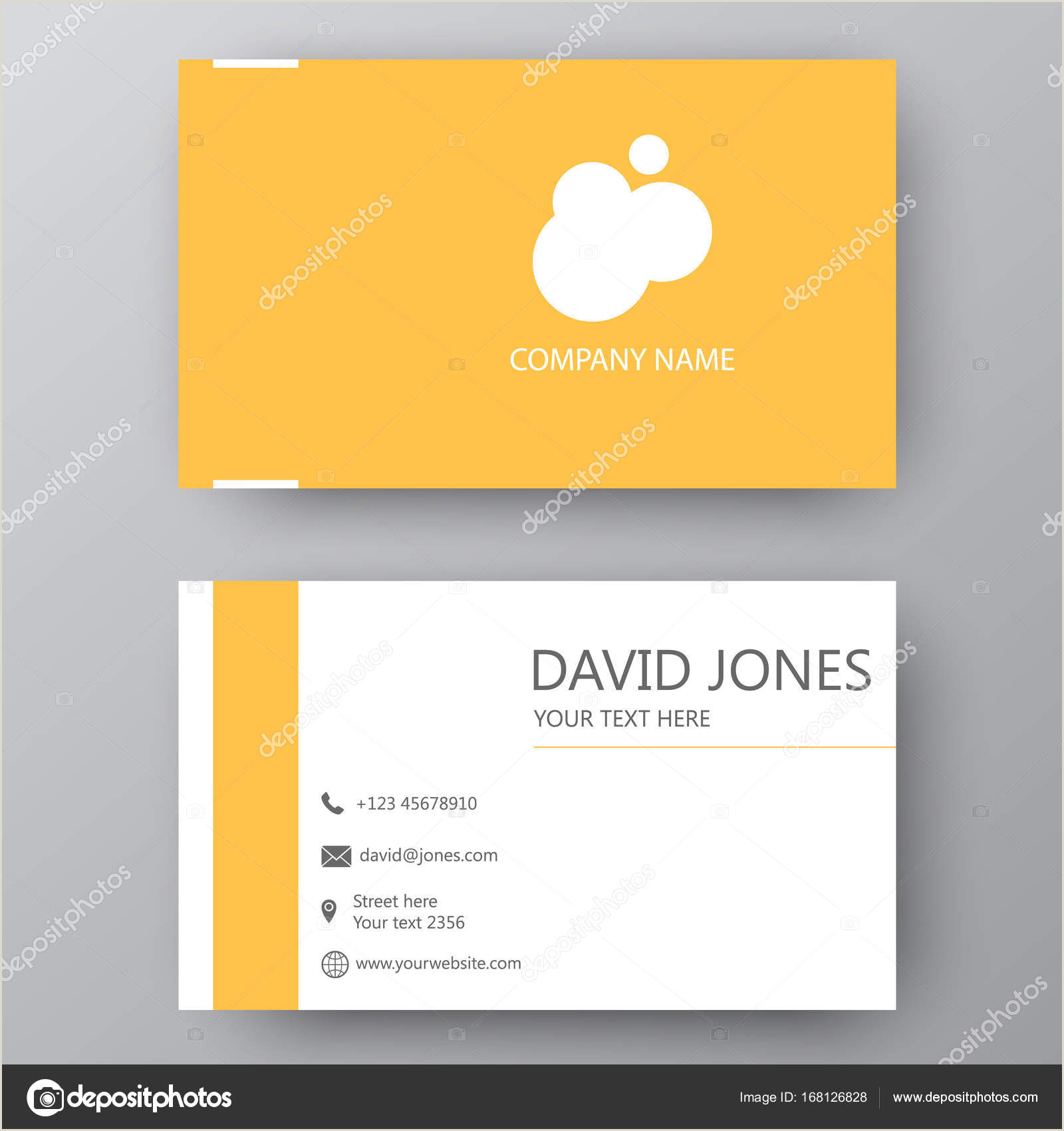 Presentation Cards Design Modern Presentation Card With Pany Logo Vector Business Card