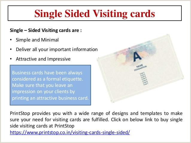 Printed Visiting Cards Printstop Visiting Cards