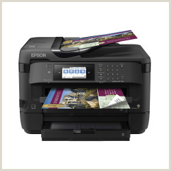 "Printing Your Own Business Cards Epson Workforce Wf 7720 19"" Wide Format Wireless Inkjet All In E Color Printer Item"