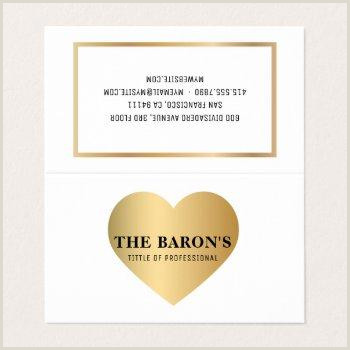Professional Business Card Heart Design Business Cards