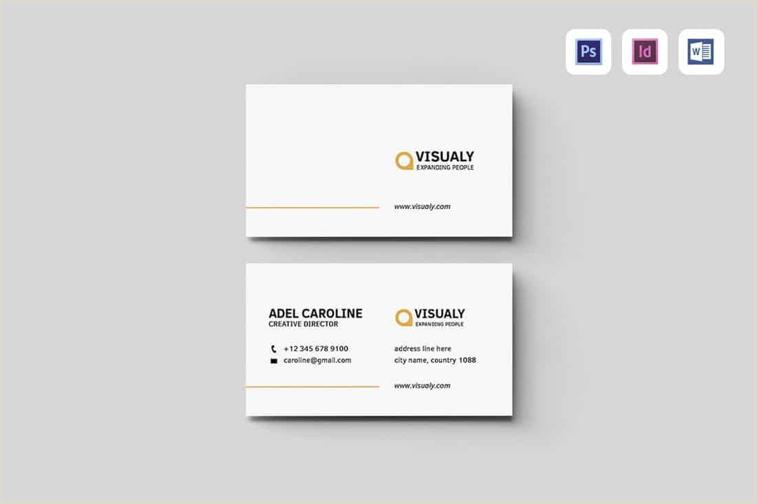 Professional Business Card Layout 20 Best Modern Business Card Templates 2020 Word Psd