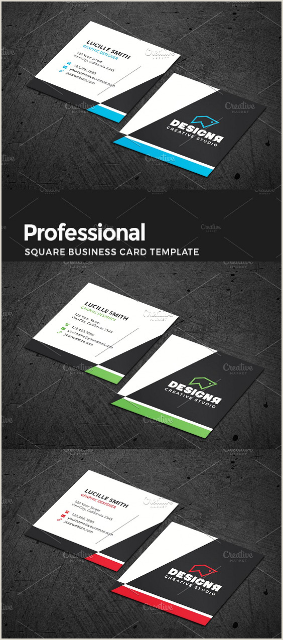 Professional Personal Business Cards Corporate Square Business Card