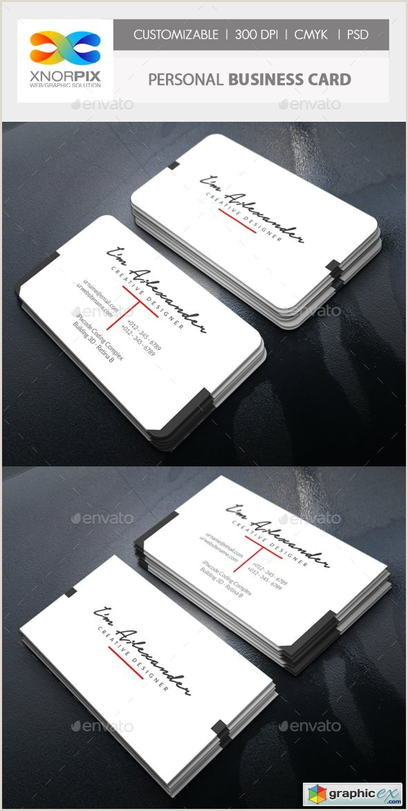 Professional Personal Business Cards Personal Business Card Free Download Vector Stock