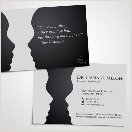 Psychologist Unique Business Cards Create A Standout Business Card For A Professional