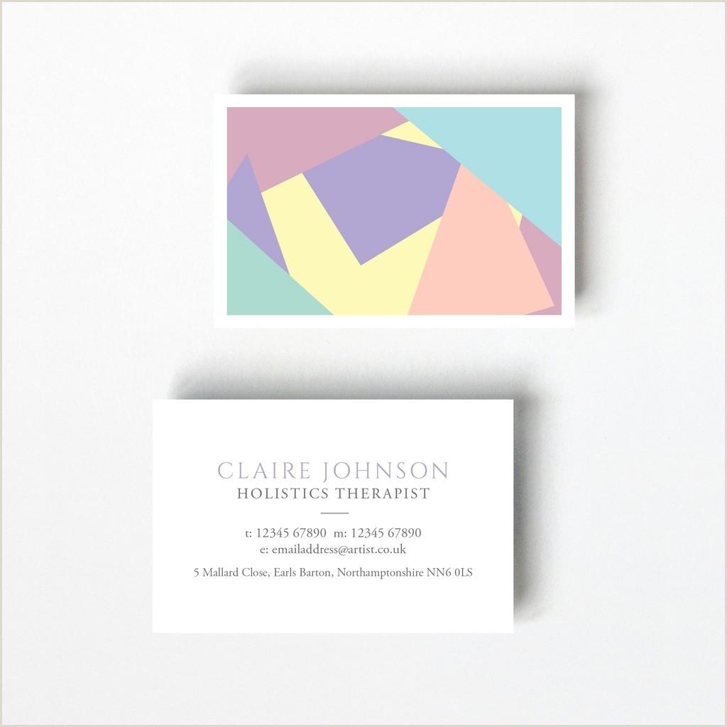 Psychologist Unique Business Cards Pastel Design Business Card