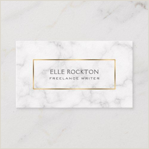 Purchase Business Card Minimalist White Marble Gold Frame Business Card