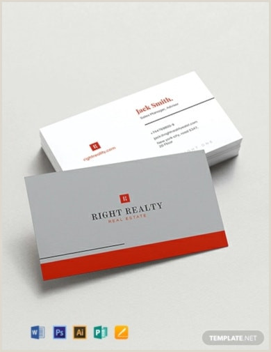 Real Estate Business Cards Samples 13 Free Real Estate Business Card Templates Ai Psd Word