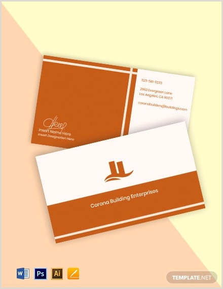 Real Estate Business Cards Samples 25 Free Real Estate Business Card Templates Indesign Ms
